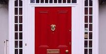 The Mouth of Chi: Front Doors / Welcome and invite in new beneficial energy by boosting your front door. My favourite front doors...