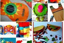 Cinco de Mayo Crafts & Activities / Crafts and activities for teaching kinds about Cinco de Mayo