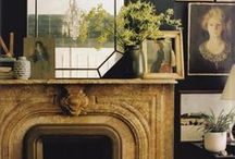 Styling the mantle / Inspiration for making the most of a beautiful fireplace space.