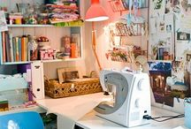 Studio Spaces / Inspiration from artists studios everywhere, as well as organizational ideas / by Blair Stocker, wise craft