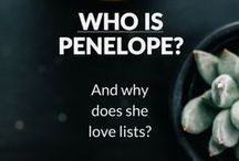 """Best of Penelope Loves Lists / Penelope loves lists, notebooks and storage solutions. She's often described as Type A and a """"neatnik"""". She thinks tidy is the new black. Are you a Penelope?"""