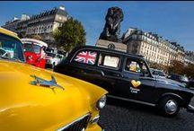 #RentrezPourRepartir / Alors que les vacances semblent déjà bien loin, Thomas Cook vous fait voyager en restant à Paris ! Les 23, 24 et 25 septembre 2014, 5 taxis aux couleurs de New York, Tokyo, Londres, New Delhi et Mexico circulent dans les rues de la capitale et proposent un dépaysement total ! http://bit.ly/RentrezPourRepartir