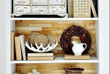 Shelf Styling / Anything involving shelves. An arrangement of shelves. What to put on shelves for decorative purposes. Anything on a wall that is used as shelves. / by Cozy Little House