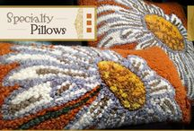 Arts & Crafts Pillows  / Pillows inspired by nature and the Arts and Crafts movement.