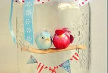 Jars / Jars used for crafting or decorating or storage.