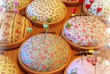Pin Cushions / Anything used for holding pins for sewers.