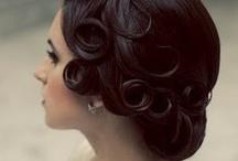 Arranging curls. / by Elizabeth Busby