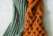 Knitted shawls and scarves / by Carolyn Meyer