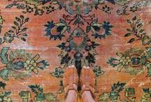 """underfoot / """"This is your space, an oasis where you can take off your shoes, enjoy yourself and the art of living.  Feel free, think big, think small...""""  Therese Sennerholt, designer"""