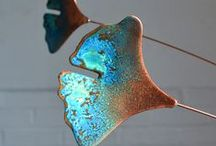 Copper Mobiles / A collections of copper mobiles that are inspired by nature.  Great for both indoors and outdoors.