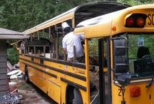 Converted School Bus - Exterior / Painting| Roof Deck| Anything on the outside of a converted school bus.