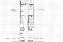 Skoolie Floor Plans / Ideas for school bus conversion layouts. Floor plans|blueprints for the Skoolie owner.