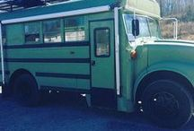 The Camping Bus /  Here is a bus that was converted by Skoolie Homes in association with Discovering Us Bus. Check out how this short bus turned into a camping home.