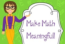 Making Math Meaningful! / My friends and I love Math!  We love to make it fun, relevant and meaningful!  Follow our board for activities that we use in our own classroom that can be easily implemented in yours!  We are not accepting new collaborators at this time.