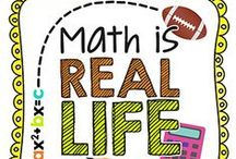 Math IS Real Life / A monthly (1st Wednesday of the month) link up to show how YOU use MATH in your REAL LIFE!  If you are interested, check out www.missmathdork.com