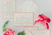 Wedding Paper Goodness / Wedding, Save the Date and Calligraphy Inspiration for lush and beautiful paper products.