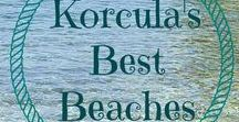 Korcula Beaches / Seas the colour of aqua blue, turquoise and jade green. Tiny pebbles reflecting the sun or warm sand to sink your toes into. Enjoy the stunning beaches of Korcula Island in Croatia.