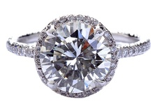 Round Engagement Rings / by Engagement 101 Couture Inspirations
