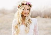 Floral Bridal Halo / Floral bridal halo, bridal crowns, and floral headpieces for brides and weddings. Lovely flowers for your hair and wedding flower updos. Flower halo for brides, bridesmaids, and flower girls.