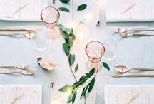 Wedding Tablescapes / Wedding tablescape ideas, table settings, china, centerpieces and more wedding and dining inspiration.