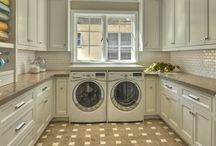 """Laundry day / For my friend, Jeff, who posed the question:  """"what is it that women want in the laundry room?""""  And for my lucky friend Christine whose husband cared enough to ask the question! / by Lisa Sartwell"""