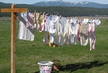 connoisseur of laundry / because I think clotheslines are beautiful {lots of pinning for #LaundryWeek http://gretchenlouise.com/laundry/} / by Gretchen Louise