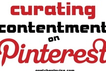 """contented pins / I may never have a """"Completed Pins"""" board, but I'll have a """"Contented Pins"""" board.  I'm curating contentment by repinning the things that remind me to be content--no matter how many pins I complete, no matter what my circumstances are. http://gretchenlouise.com/curating-contentment-on-pinterest/"""