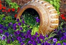 Gardening - Containers / No space is too small to  have a garden when you can use containers! Pots - and all kinds of found objects can turn into a garden container!