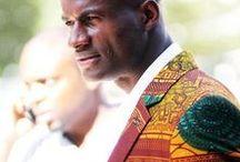 Extravagante stijl man / Opvallende originele trendy ongewone kleding in gedurfde en/of contrastrijke kleuren