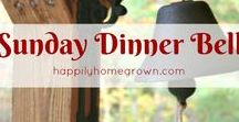 Sunday Dinner Bell / Featuring the recipes fro Sunday Dinner Bell - a weekly recipe link-up hosted by Happily Homegrown.