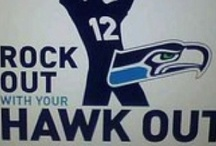 Seahawks  / Seattle Seahawks in all of their glory / by Courtney Bosence