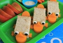 School Lunches and Bento / Fun food ideas and recipes for kids' school lunches, Bento, and tea parties