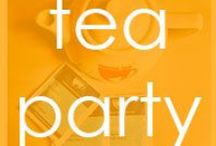 TEA | party / We love holding tea parties at Mama Tea, it's a chance for drinking lots of herbal tea and eating lots of cake.