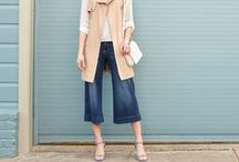 Denim Outfit Ideas / Denim for days! Find outfit ideas for styling your favorite jeans and denim pieces. Dressed up or dressed down, we love how versatile this staple is. Did you know adding a Pinterest board helps your Stylist get to know you better? Pin the denim looks you love below to show your Stylist what you're coveting.