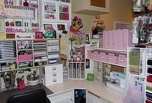Scrapbook Rooms & Organization / Amazing Scrapbook and Craft Rooms plus Organization / by Lisa Darras