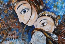 Babywearing Art  / Babywearing portrayed through beautiful works of art from around the world - paintings, photography, drawings and henna belly art.