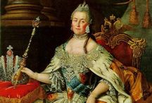 Catherine the Great / Born a simple Polish princess named Sophie, Catherine entered into an arranged marriage with soon-to-be Peter III of Russia.  Clever and conniving, Catherine conveniently deposed her husband and assumed the throne herself, reigning for 34 years. / by Griffith Granny