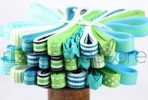 pretty ribbon bundles