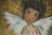 Angels & Angel's wings / I have been fascinated by angels since I was about 9 or 10 years old. I started collecting them about the same time and have quite a few figurines and pictures of angels. I kinda sorta feel like angels have watched over me all of my life, thus far. : ) / by Lancia Lee