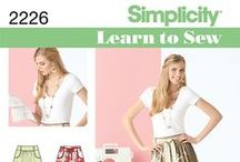 Learn to Sew with Simplicity / Easy sewing patterns - great for beginner sewers!