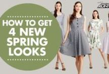 Spring Sewing Inspiration / Embrace the coming season with a selection of pretty and practical patterns! www.simplicitynewlook.com