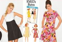 Sixties sewing inspiration / All things sixties! From pretty shifts and Audrey's little black dress to all the psychedelic prints you could need, Shop our vintage collection at www.simplicitynewlook.com