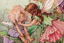 """Mermaids and Fairies / """"Faeries, come take me out of this dull world, For I would ride with you upon the wind, Run on the top of the dishevelled tide, And dance upon the mountains like a flame."""" ~William Butler Yeats, """"The Land of Heart's Desire,"""" 1894"""
