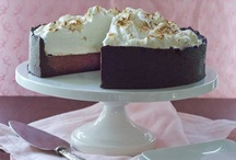 """Gluten Free Pie & Cheesecake / """"We must have a pie. Stress cannot exist in the presence of a pie."""" ~David Mamet, Boston Marriage"""