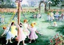 """May Day (May 1st)--A Celebration of Spring! / """"Hebe's here, May is here! The air is fresh and sunny; And the miser-bees are busy; Hoarding golden honey.""""  ~Thomas Bailey Aldrich"""