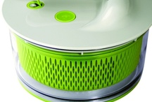 S is for... Salad spinners / A board full of salads that are far from boring...