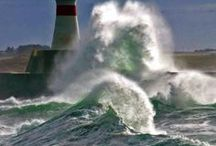 """Lighthouses / """"I thought that the light-house looked lovely as hope, That star on life's tremulous ocean."""" ~Thomas Moore"""
