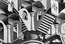 "M. C. Escher / ""Are you really sure that a floor can't also be a ceiling?"" ~M.C. Escher"