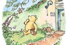 "The Hundred Acre Wood / ""When you are a Bear of Very Little Brain, and you Think of Things, you find sometimes that a Thing which seemed very Thingish inside you is quite different when it gets out into the open and has other people looking at it.""  ~A.A. Milne, Winnie-the-Pooh"