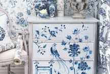 """Blue & White / """"Blue is the only color which maintains its own character in all its tones...it will always stay blue; whereas yellow is blackened in its shades, and fades away when lightened; red when darkened becomes brown, and diluted with white is no longer red, but another color - pink."""" ~Raoul Dufy"""